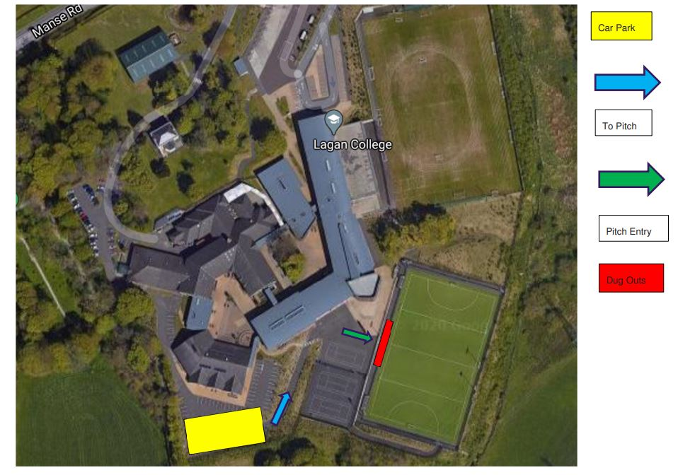 Lagan College - recommended parking area
